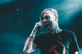 The Used's Bert McCracken live at Brooklyn Bowl. Concert Photographers in Las Vegas. Limitless VZN music and live photography.