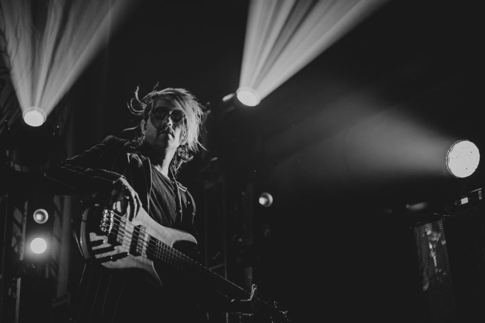 Jeph Howard of The Used. Brooklyn Bowl Las Vegas live concert.
