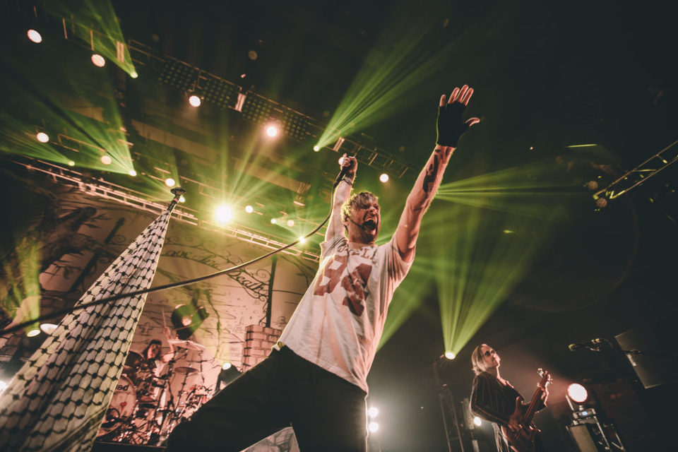 Bert McCracken in Las Vegas. The Used 15 year anniversary tour.